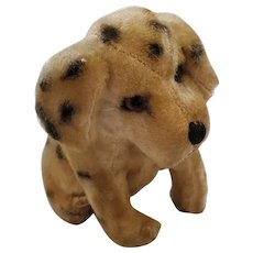 Cute Vintage Painted Mohair Dalmatian Dog Stuffed Toy
