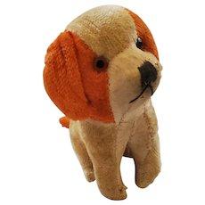 Tiny Vintage Orange & Cream Mohair Dog Stuffed Toy