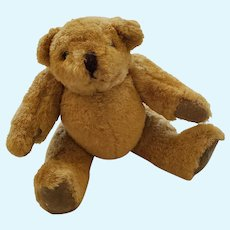 Tiny Vintage Golden Brown Jointed Teddy Bear