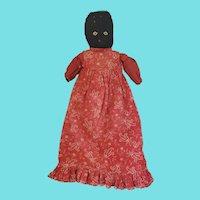 Authentic Late 19th Early 20th C. Black Americana Folk Art Stump Doll