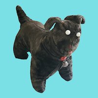 Antique Early 1900's Amish Dog Stuffed Toy w/Provenance