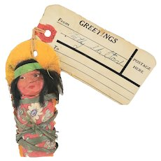Tiny Vintage Skookum Papoose Doll w/Celluloid Face #1