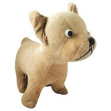 Cute Vintage Velvet & Mohair Dog Squeak Toy