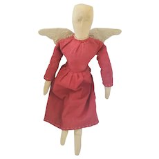 Vintage 1991 Debbie Connelley Folk Art Angel Rag Doll