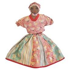 Large Vintage 1930's-40's Primitive Folk Art Topsy-Turvy Doll