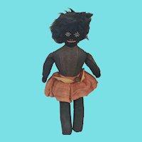 Vintage 1930's PA. Black Americana Folk Art Rag Doll