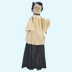 Vintage 1920's PA. Folk Art Cloth Face Crepe Paper Choir Doll