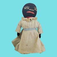 Vintage Black Americana Folk Art Bottle Doll #1