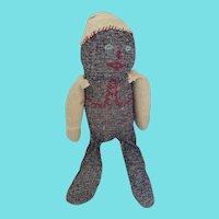 Vintage 1920's Naive Folk Art Sock Doll