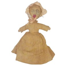Late 19th C. Super Primitive Folk Art Pioneer Doll