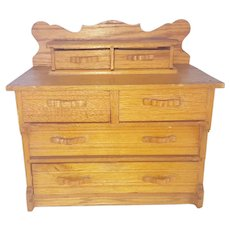 Early 1900's PA. Folk Art Miniature Chest of Drawers