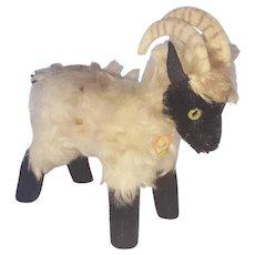 "Vintage Steiff Ram Goat With Original Paper ""Snucki"" Tag"