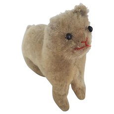 Vintage Well-Loved Mohair Cat Stuffed Toy