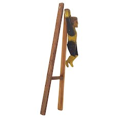 Vintage 1920's Folk Art Wooden Acrobat Toy