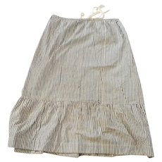Early 1900's Hand Made Striped Skirt With Ruffle