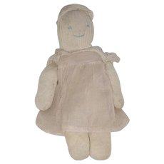 Vintage 1930's Primitive Folk Art Rag Stuffed Sock Doll