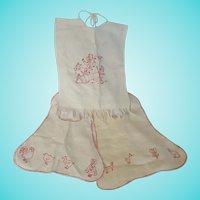 3 Vintage Handmade Redwork Bibs w/ Animals, Children, Woman Who Lived in Shoe