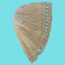 Antique Victorian Crocheted Night Cap