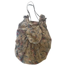 Vintage 1940's Handmade Floral Mending/Sewing Bag