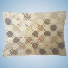Antique Civil War Era Snowball Doll Quilt