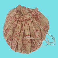 Antique Print Fabric Ditty Bag #2