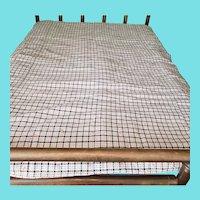 19th C. PA. Primitive Blue & White Homespun Coverlet/Comforter