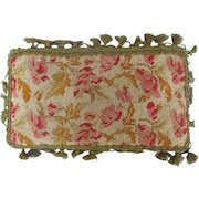 Antique Victorian Small Floral Design Pillow