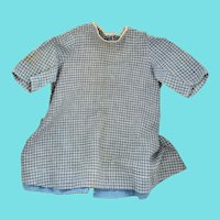 Antique ca. 1880's Blue & White Homespun Child's Dress