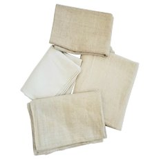 3 Large Pieces of Antique PA. Homespun + PA. Homespun Grain Bag