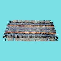 Vintage Folk Art Woven Wool Felt Table Runner
