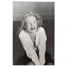 Philippe Halsman -Marilyn Monroe laughing-1949 Silver Gelatin-Signed