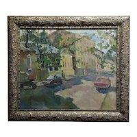 Gavlin -Moscow Street Scene-Russian Impressionist-Oil painting