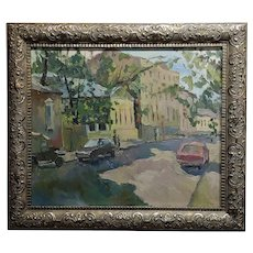 Gavlin -Moscow Street Scene-Russian Impressionist-Oil painting
