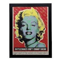 Marilyn Monroe -Original Pop Art Poster by Billy Bishop & Obsolete Industries