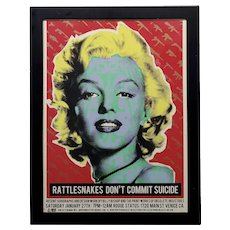 Marilyn Monroe -Original Pop Art Poster by Billy Bishop & Obsolete Industries