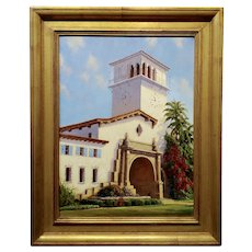 Ralph Waterhouse - Santa Barbara Courthouse - Oil painting