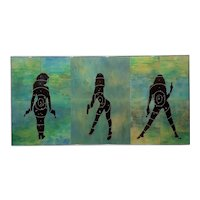 Ellwood T. Risk - Blue Sirens - Original Art Work on Panel