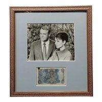 Cary Grant & Audrey Hepburn - Original Photograph & Autograph
