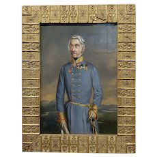 Portrait of an Austrian General - 19th century Oil painting