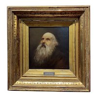 Abel De Pujol - Portrait of an old Patriarch - 19th century Oil painting