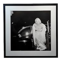 Marilyn Monroe at 1954 Premier -Large Silver Gelatin Photograph by Murray Garret