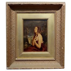 Penitent Magdalene - 18th century Oil painting on board
