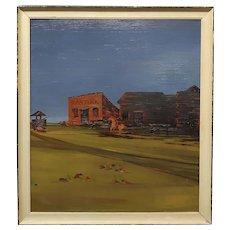 John Lewis Egenstafer - Wild West Town - Oil painting