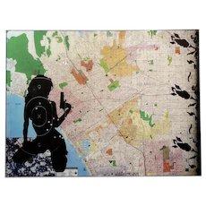 Ellwood T. Risk - City Of Angeles - Original Art Work on Panel