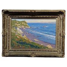 Gary Ray - Beautiful California Coastline - Oil painting