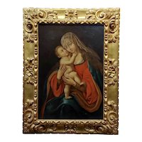 Madonna with Child - Beautiful 18th century Italian Old Master -Oil painting