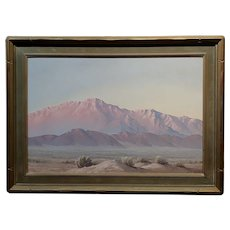 John William Hilton -Magic Desert Sundown - Oil painting