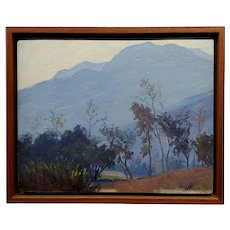 William Henry Price -Early California Landscape - Oi painting 1910s