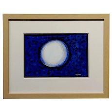 Conrad Buff - Snowball over a Deep Blue - Modernist Oil painting