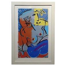 Amanda Watts - Cubist Nude Female - Oil painting